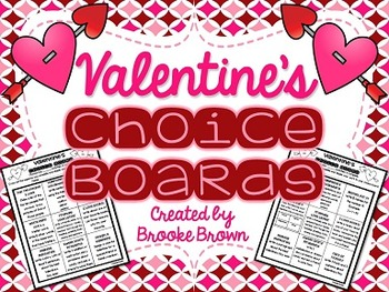 FREE Valentine's Choice Boards