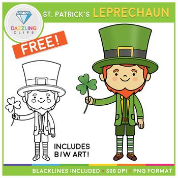 FREE Saint Patrick's Leprechaun Clip Art
