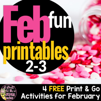 Valentine's Day Activities and Math Brainteasers Freebie