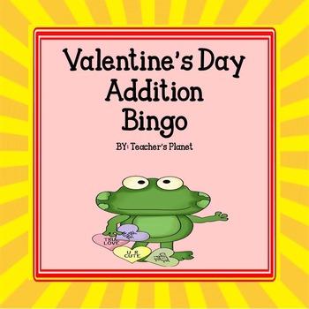 FREE Valentine's Day Addition Bingo!
