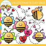 Free Bee Valentine Clip Art