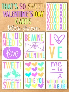 Valentine's Day Cards - That's So Sweet!