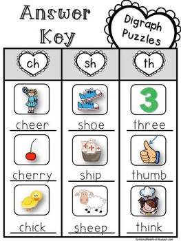 FREE Valentine's Day Beginning Digraph Puzzles