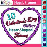 Valentine's Day Border Clip Art   Free Clipart Heart Frames for Teachers