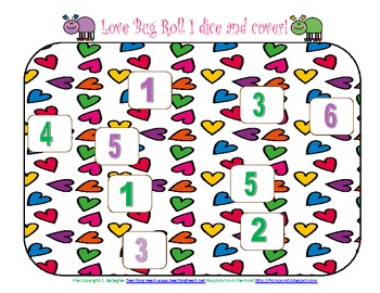 FREE Valentine's Day Love Bug Cover-Up Dice Game