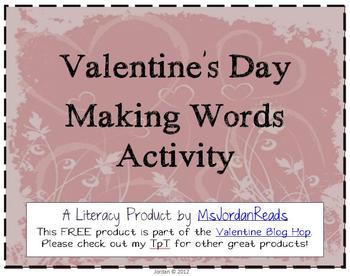 FREE Valentine's Day Making Words Activity