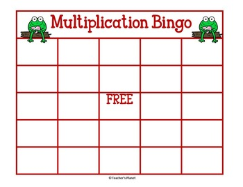 FREE Valentine's Day Multiplication Bingo!