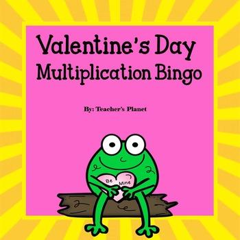 FREE Valentine's Day Multiplication Bingo!