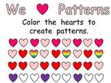 FREE Valentine's Day Patterns Practice Page for Kindergarten