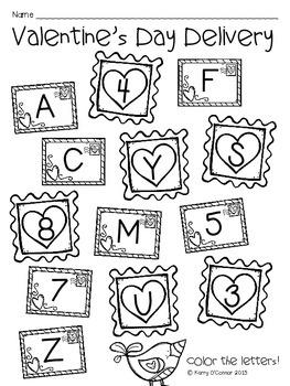 FREE! Valentine's Day Pocket Chart Alphabet Recogniton Game: Preschool, PreK, K