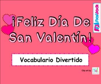 FREE Valentine's Day Spanish Vocabulary SMART BOARD Game