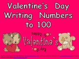 FREE Valentine's Day Writing Numbers to 100- Kindergarten & 1st Grade