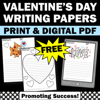 free Valentine's Day writing papers