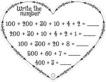 FREE Valentines Math minibook