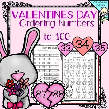 Valentines Ordering Numbers to 100 - FREE