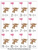Valentine's Day Subtraction Center Game One Less Freebie