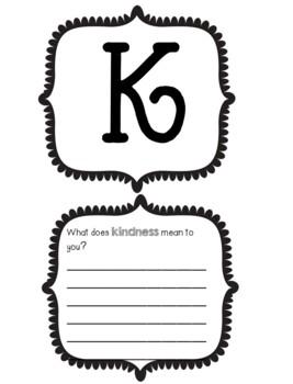 "FREE Valentine's Writing Craftivity - ""BE KIND"" Mobile"