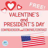 FREE Valentine's and President's Day Comprehension and Com