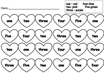 FREE Valentines Sight Word Practice