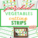 Vegetable Cutting Strips   Cut and Paste PreK Spring Summe