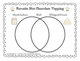 FREE Venn Diagram - Hot Chocolate Toppers (Christmas, Winter, Valentine's Day)