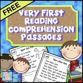 Reading Comprehension Passages and Questions FREE