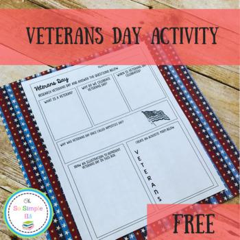 FREE Veterans Day Activity