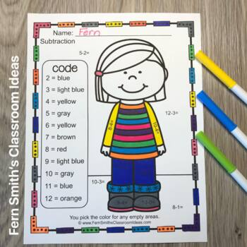 Veterans Day Interactive Notebook Activities - Addition and Subtraction Freebie