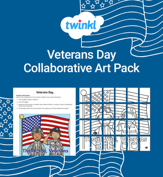 FREE Veterans Day Collaborative Art Pack