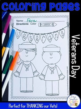 Veterans Day Coloring Pages Freebie by Fern Smith\'s Classroom Ideas