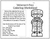 FREE Veterans Day Coloring Worksheet