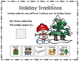 FREE Holiday Traditions Adapted Worksheet for Special Educ