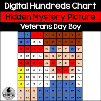 FREE Veteran's Day Patriotic Boy Hundreds Chart Activity for Math