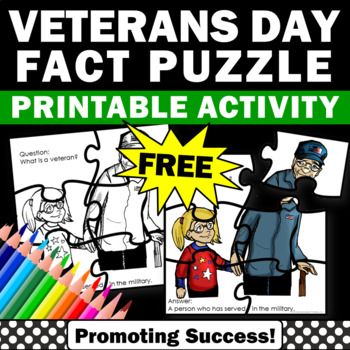 FREE Veterans Day Puzzle Activity