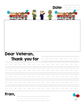Free veterans day thank you letter by mrs first grade tpt free veterans day thank you letter thecheapjerseys