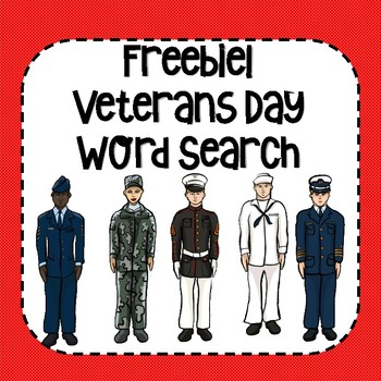 FREE Veterans Day Word Search