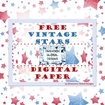 FREE Vintage STARS Digital PAPER