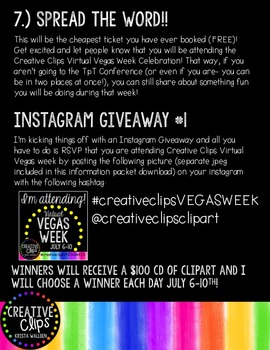 FREE Virtual VEGAS WEEK Information! {Creative Clips Digital Clipart}