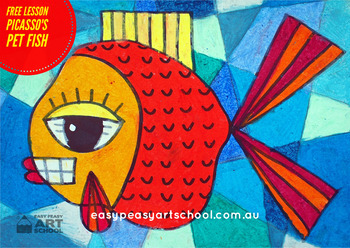 FREE Visual Arts Lesson - Picasso's Pet Fish By Easy Peasy Art School
