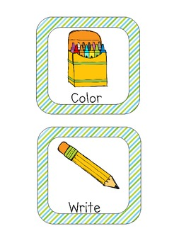 *FREE* Visual Direction Cards