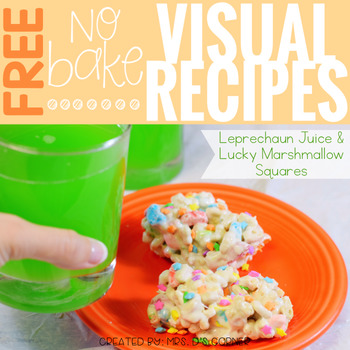 FREE Visual Recipes with REAL pictures ( for special education )
