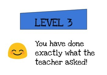 FREE Visual Rubric for Levels 1-4