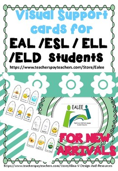 FREE Visual Support Cards for EAL /ESL /ELL New Arrivals