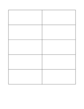 FREE Vocabulary Flash Cards Blank Template