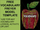 FREE Vocabulary Freyer Model Template