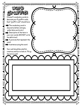 FREE Vocabulary Word Graffiti Activity! For use with ANY subject and ANY words