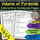 FREE Volume of Pyramids Math Interactive Notebook Pages