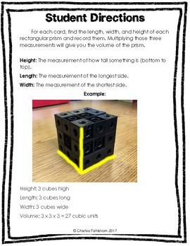FREE Volume of Rectangular Prisms Task Cards