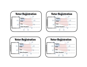 """FREE Voter's Registration Card for Kids and """"I Voted"""" Stickers for Elections"""