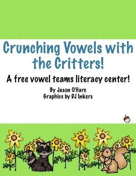 FREE Vowel Digraphs Literacy Center